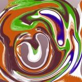 Abstracte vloeibare marmeren koele achtergrond royalty-vrije illustratie