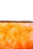 Abstracte vloeibare oppervlaktemacro met bellen royalty-vrije stock afbeelding