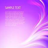 Abstracte vlotte violette lijnen. Royalty-vrije Stock Foto's