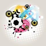 Abstracte voetbal   stock illustratie