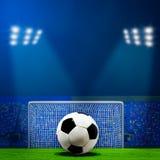 Abstracte voetbal of voetbalachtergronden Stock Fotografie