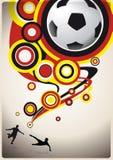 Abstracte voetbalachtergrond Royalty-vrije Stock Afbeelding