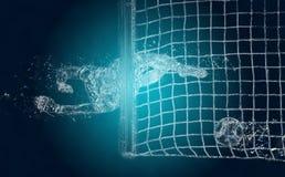 Abstracte voetbalkeeper royalty-vrije illustratie