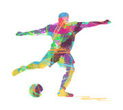Abstracte voetballer Stock Afbeelding
