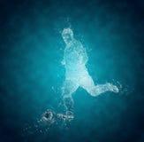 Abstracte voetbalster royalty-vrije illustratie