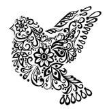 Abstracte vogel, die op wit wordt geïsoleerdr. Stock Foto's
