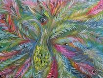 Abstracte vogel op Carnaval royalty-vrije illustratie