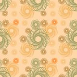 Abstracte Vorm met Geometrische Lijn Art Seamless Pattern vector illustratie