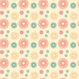 Abstracte Vorm met Geometrische Lijn Art Seamless Pattern royalty-vrije illustratie