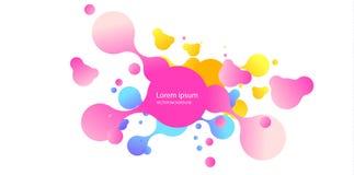 Abstracte vorm van vloeistof Vloeibaar ontwerp Vloeibare dynamische achtergrond voor websites, landingspagina of bedrijfspresenta stock illustratie