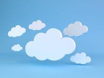 Abstracte vormen van wolken Royalty-vrije Stock Foto's