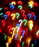 Abstracte vraag-teken achtergrond Royalty-vrije Stock Fotografie