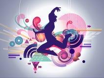 Abstracte Vrouwelijke Danser Stock Foto's