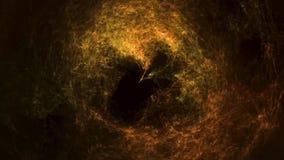 Abstracte vurige achtergrond met lichtgevende wervelende achtergrond glowing glans om kader met licht cirkels lichteffect vector illustratie