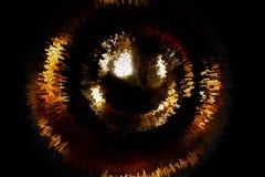 Abstracte vurige cirkel op een zwarte achtergrond Stock Foto