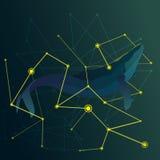 Abstracte walvis tussen de gele lijnenvector Royalty-vrije Stock Fotografie