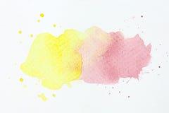 Abstracte waterkleur Stock Afbeeldingen