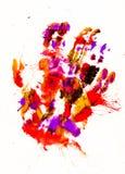 Abstracte waterkleur het schilderen kunstenachtergronden Stock Afbeeldingen