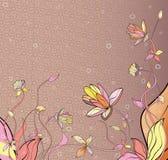 Abstracte Waterlily-Bloem Stock Afbeelding