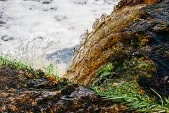Abstracte waterval dichte omhooggaand royalty-vrije stock afbeelding