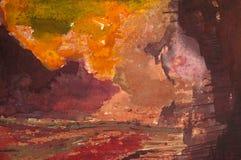 Abstracte waterverf Stock Afbeeldingen