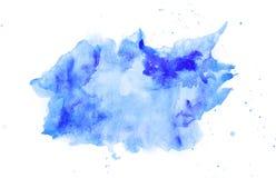Abstracte waterverf blauwe vlek royalty-vrije stock foto