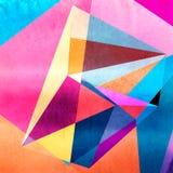 Abstracte waterverf geometrische achtergrond vector illustratie
