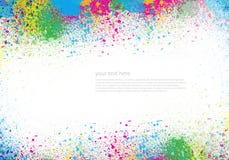 Abstracte waterverf geschilderde achtergrond Stock Foto