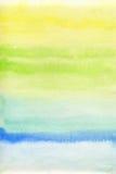 Abstracte waterverfachtergrond Stock Afbeelding