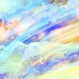 Abstracte Waterverfachtergrond, Stock Afbeelding