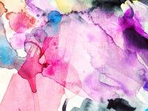 Abstracte Waterverfachtergrond, Stock Afbeeldingen