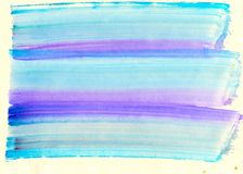 Abstracte waterverfachtergrond Royalty-vrije Stock Foto