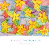 Abstracte waterverfachtergrond Het patroon van de bloem Stock Fotografie