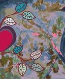 Abstracte waterverfachtergrond met hart Royalty-vrije Stock Fotografie