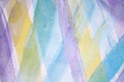 Abstracte waterverfachtergrond op papier Royalty-vrije Stock Foto's