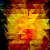 Abstracte waterverfachtergrond van driehoeken vector illustratie