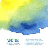 Abstracte waterverfachtergrond voor uw ontwerp Stock Afbeelding