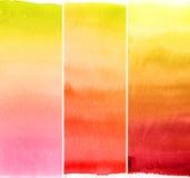Abstracte waterverfachtergronden Royalty-vrije Stock Foto's