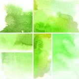 Abstracte waterverfachtergronden Royalty-vrije Stock Afbeelding