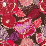 Abstracte waterverfbloemen stock illustratie