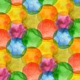 Abstracte waterverfcirkel geschilderde achtergrond vector illustratie