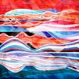 Abstracte waterverfgolf als achtergrond Royalty-vrije Stock Foto