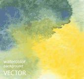Abstracte waterverfhand geschilderde achtergrond Royalty-vrije Stock Afbeelding