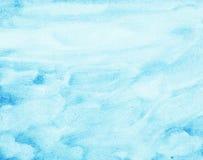 Abstracte waterverfhemel, wolken Royalty-vrije Stock Afbeelding