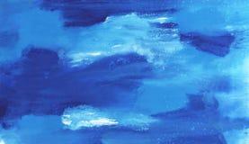 Abstracte waterverftextuur Royalty-vrije Stock Foto's