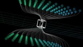 Abstracte Web blockchain achtergrond Netwerk van de concepten het digitale technologie Vector illustratie stock foto's