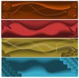 Abstracte Webbanners Royalty-vrije Stock Afbeeldingen