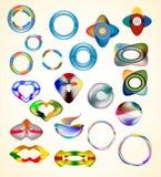 Abstracte Webpictogrammen Royalty-vrije Stock Afbeeldingen