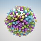 Abstracte Wereld Stock Afbeelding