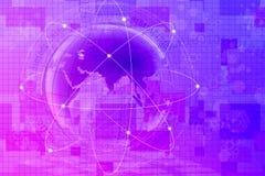 Abstracte wereld en technologieachtergrond Stock Afbeeldingen